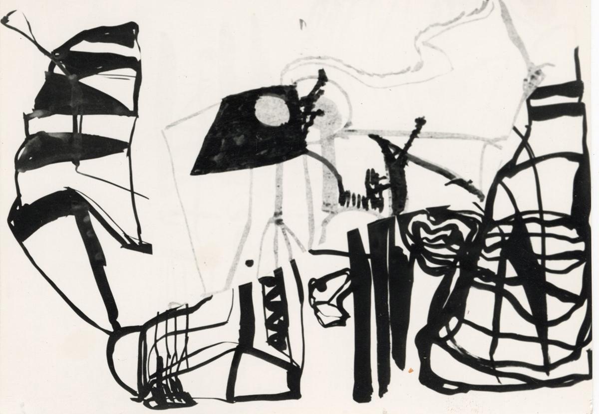 Tusche und Transparentpapier 1987