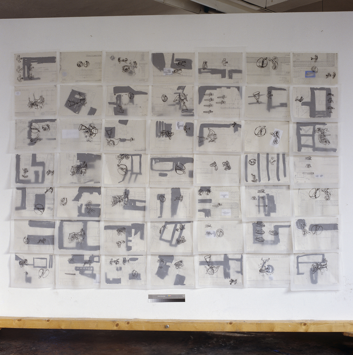 """Bunker Drawings"", 1995"