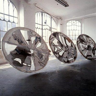 """""""Räder, Gefährt, Kreisende Linien im Raum"""", 1995-2002"""